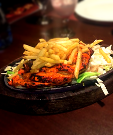 Grilled Tandoori Chicken and Chips
