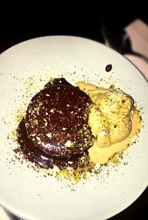 Chocolate Fondant with Pistachio Ice Cream